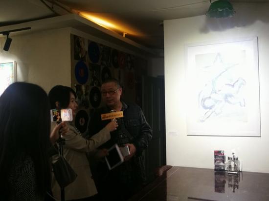 策展艺术家刘绍隽接受采访