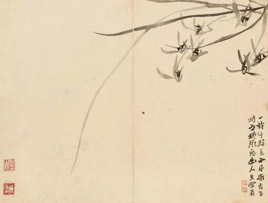 陈撰《花卉图》册部分,纸本设色,十二开,纵24.5厘米 横32.5厘米