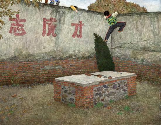 《立志成才》-57×72CM-木板丙烯-2017