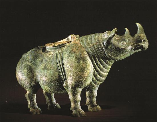 王丽华刺绣作品 犀牛