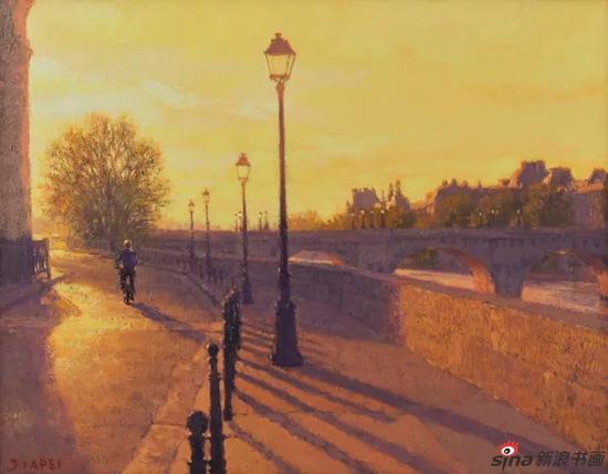 巴黎早晨 32×41cm 布面油画