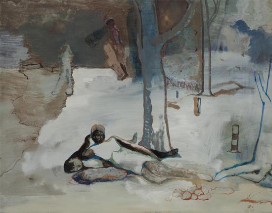 赵洋,《罗马是个湖二》,布面油彩丙烯,90×70cm,2014
