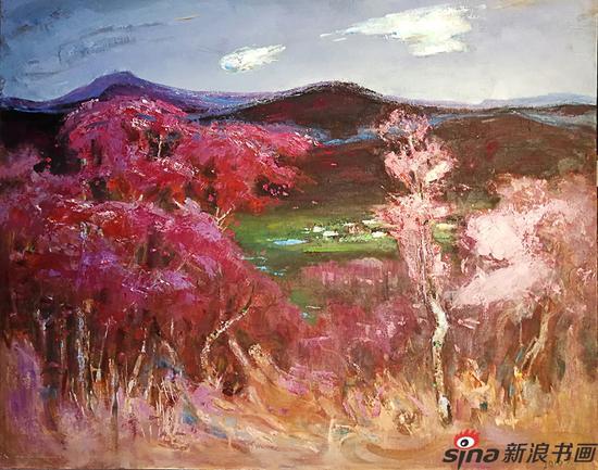 蒋晓林《在那遥远的小山村》油画