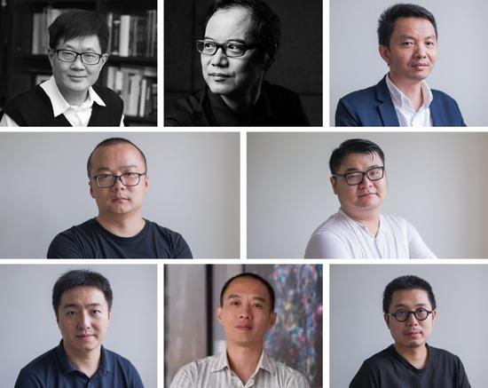 学术团队 左上起:吕澎、王春辰、胡斌、蓝庆伟、李国华、郑闻、廖廖、宋振熙