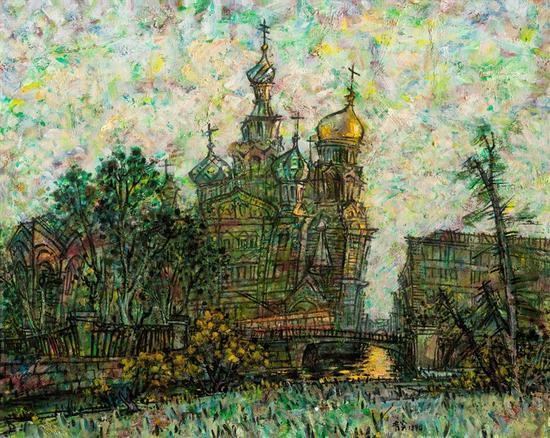 圣彼得堡的回忆;1994年、麻布油画、81X100 第八届全国美术作品展 优秀作品奖 1994