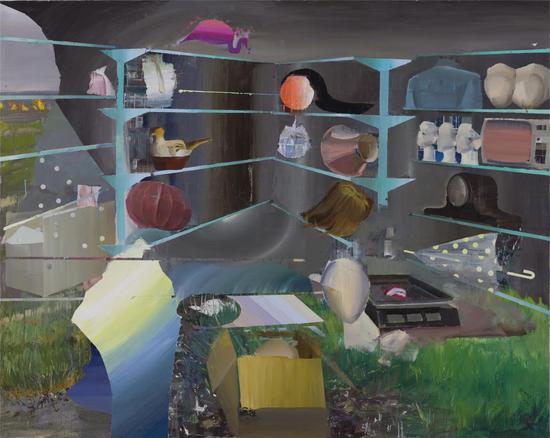 史怡然,《芳芳商行》,布面油画,200x160cm,2017