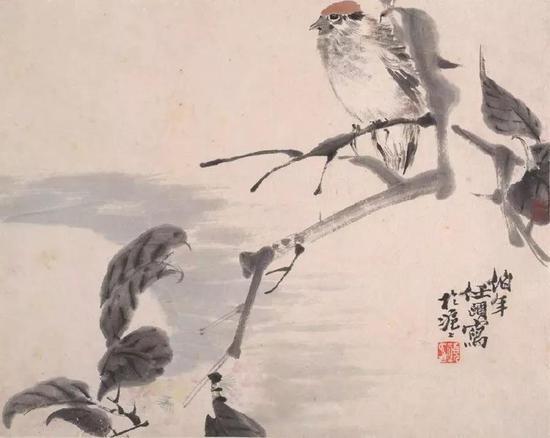 任伯年 花鸟蔬果册之一 美国大都会艺术博物馆藏