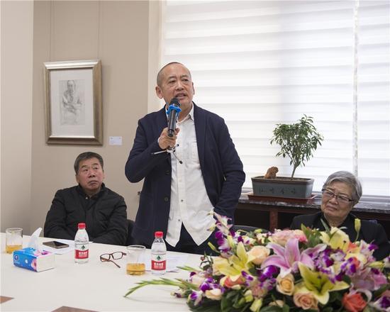 艺术家、中央美术学院版画系主任、博导、国际学院版画联盟主席、中国美术家协会版画艺委会副主任王华祥先生致辞