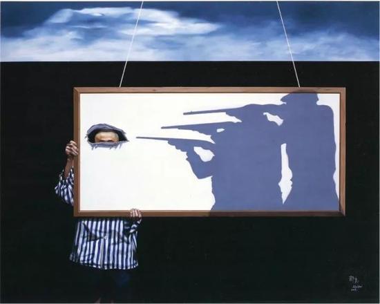 那危 《0.1mg系列-柔软的暴力》布面油画200x250cm 2008