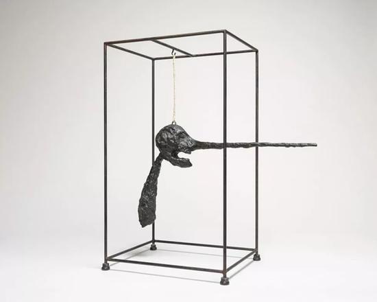 《鼻子》(Nose),Alberto Giacometti,1947年,青铜、电线、绳和钢