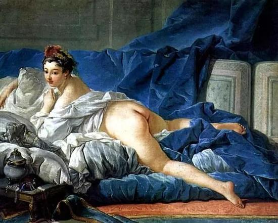 鲁达向孩子们展示的裸体画之一:法国画家布雪作品《宫女》 图自网络
