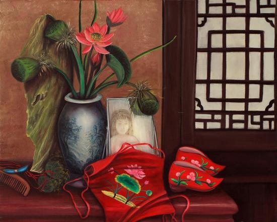 《花季》 100cm×80cm (油画) 释义:绽放之后,我注定以更热切的情怀去默默结果