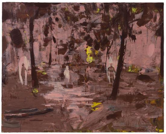 卢琳,《景致》,2017,布面丙烯,150×120cm