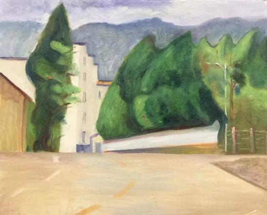 陈红举《清风徐来》50x60cm2017年布面油画。webp