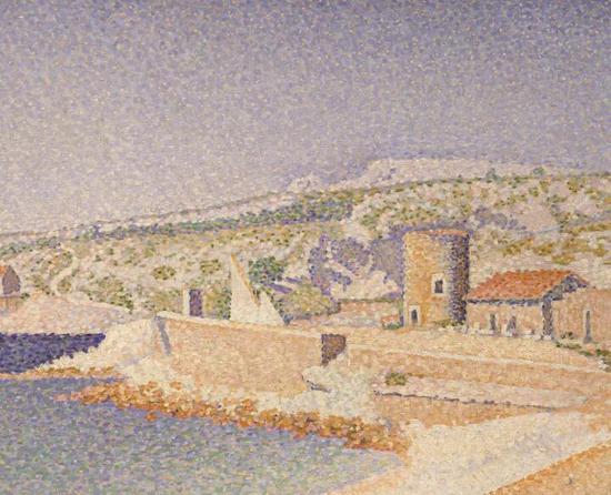 英国美术基金出售的西涅克作品《卡西斯码头》