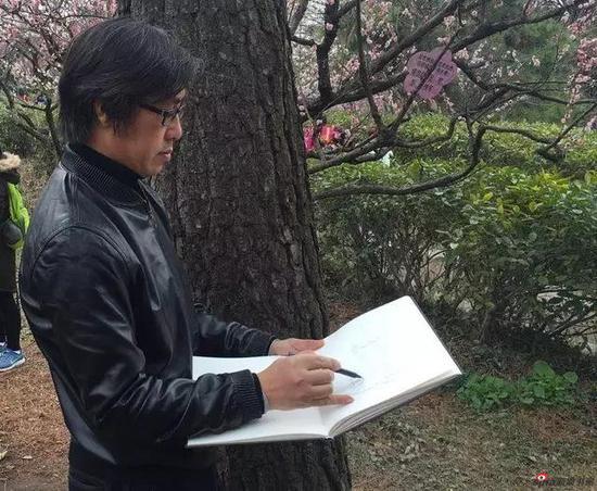 江苏省中国画学会理事 刘春写生采风