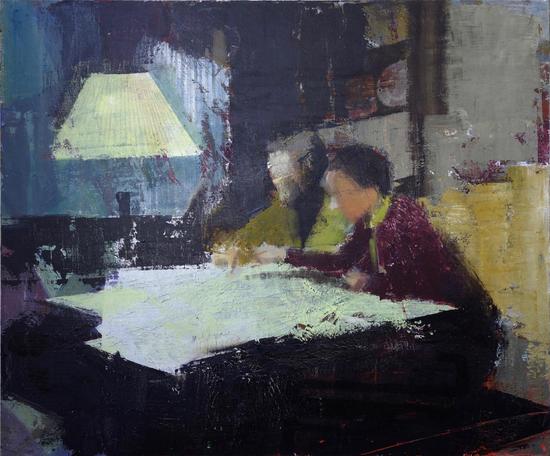 史怡然,《寻得之物》,布面油画丙烯,70x60cm,2013