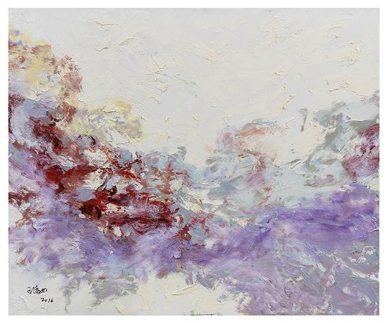 布面油画2015王清州100x120cm简境