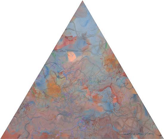 王远作品《万牲园》布上油画 等边三角形 边长90cm×90cm 王远 2007——2011(6)
