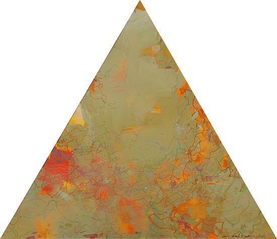 王远作品《万牲园》布上油画 等边三角形 边长90cm×90cm 王远 2007——2011(7)
