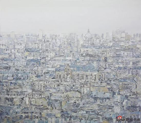 王小双 看不见的城市05 2015 布面油画 200x300cm
