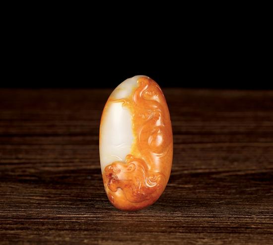 02437吴金星 新疆和田玉籽料威  规格:5.1×2.8×1.8cm 独籽  重量:39g
