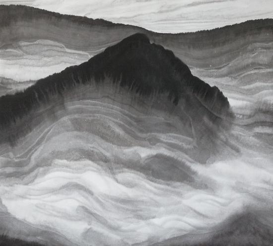 畅神系列,宣纸水墨,98X110CM,2012