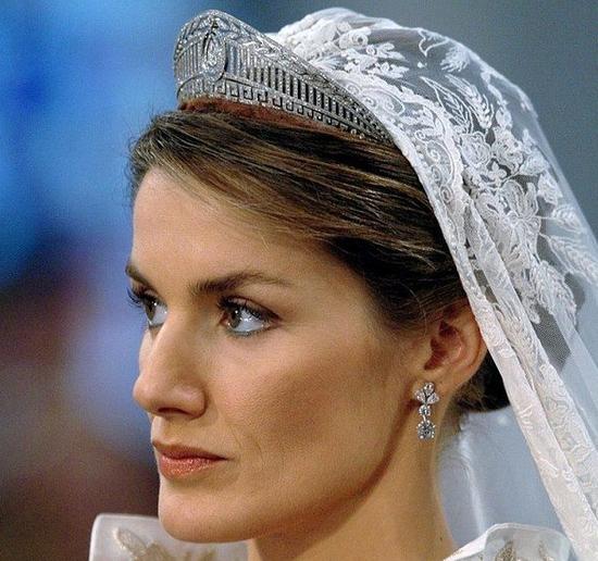 西班牙王后莱蒂西亚佩戴Prussian王冠