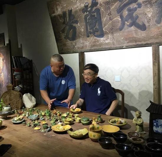 故宫博物院苗建民主任到觐见古陶瓷艺术空间交流