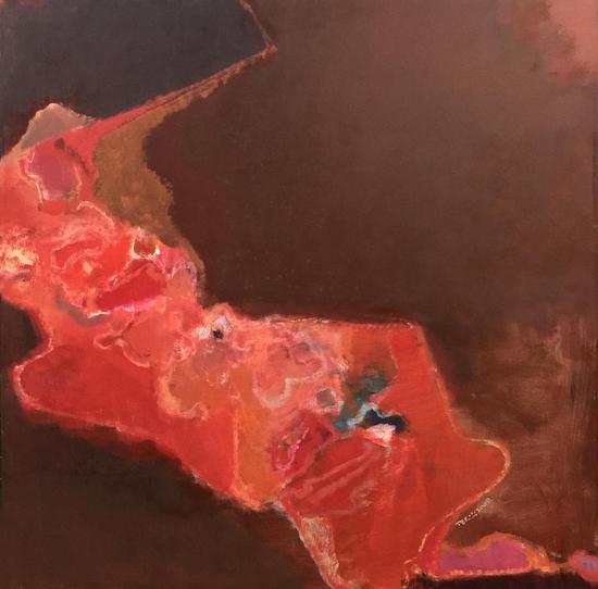陆云华作品 后园系列 100×100cm 布上丙烯 2009