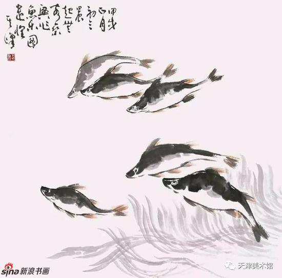 孙其峰 | 鱼乐图 68cm×68cm