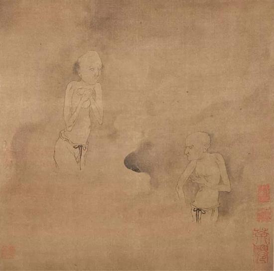 罗聘《鬼趣图》卷部分,绢本设色,纵41.5cm  横1246cm