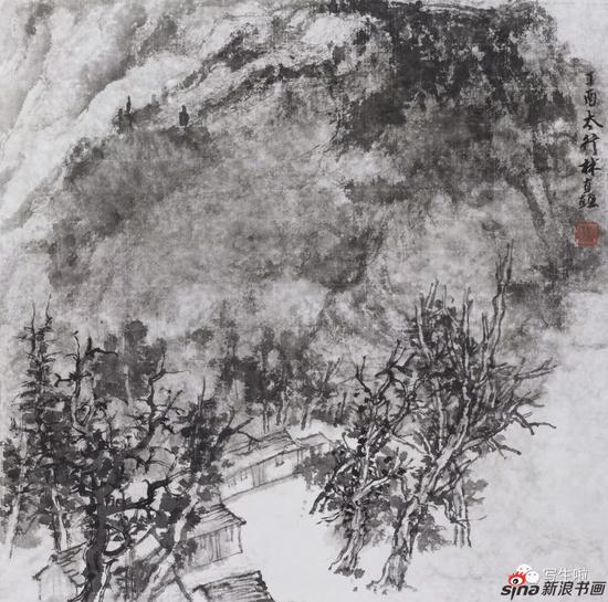 《太行,朝阳沟之三》 33x33cm 2017年4月
