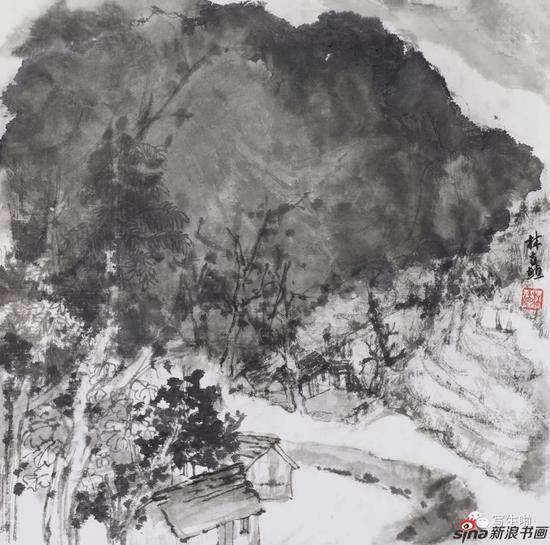 《太行,雨后的林虑山之二》 33x33cm 2017年4月