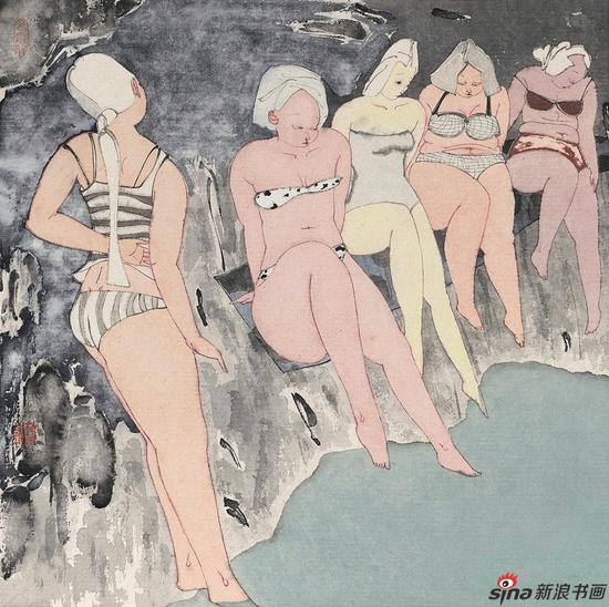 《漾》No.15 68x68cm 2017年