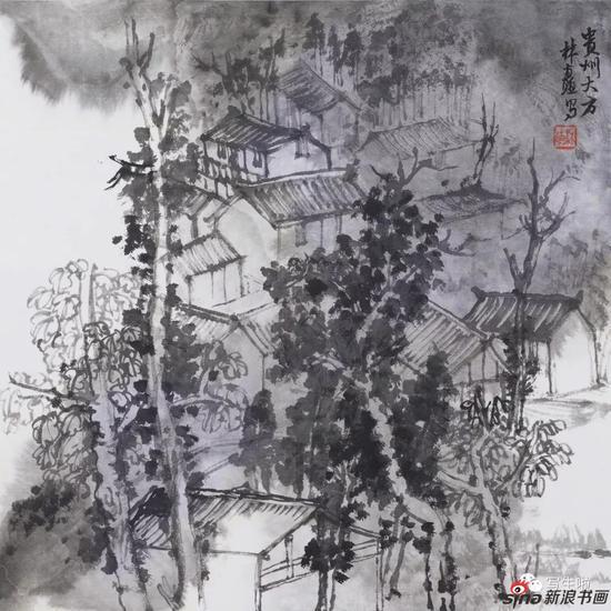《贵州,大方背座村之七》 33x33cm 2017年5月
