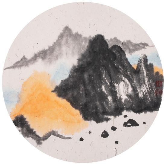 山水No.11 33x33cm 纸本设色 2017
