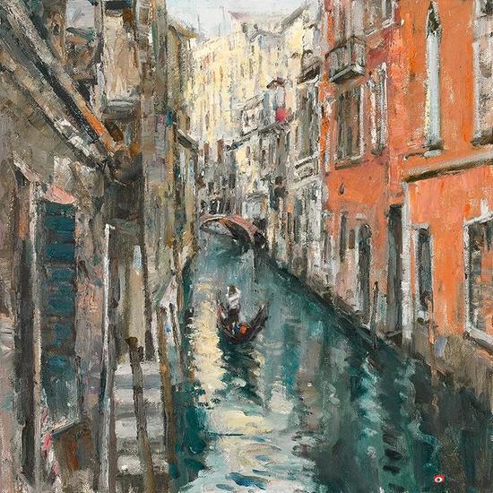 威尼斯水乡 80cmx80cm 布面油画 2015年
