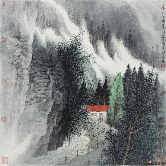 《林州江旗渠》50cmx50cm2017年
