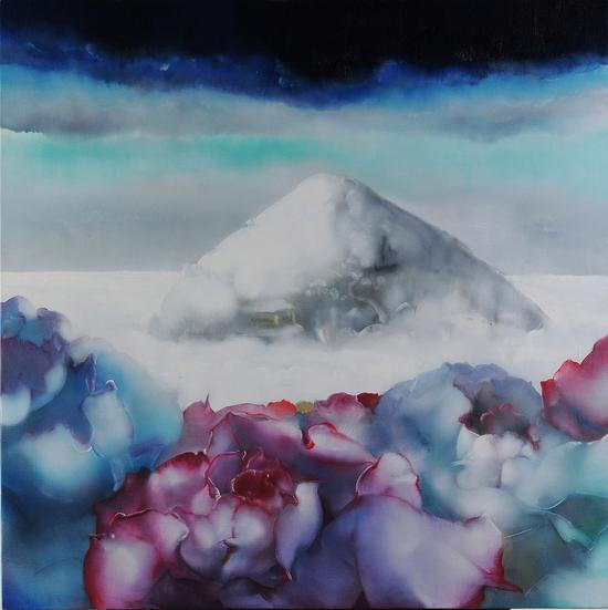 罗发辉/ Luo Fahui|<仙境-2010 No.3/Fairyland-2010 No.3>|120x120cm|布面油画/Oil on Canvas|2010