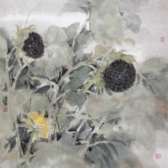 葵花 69×69cm