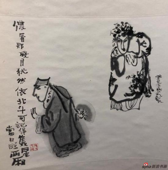 展出的戏曲人物画(陈九)