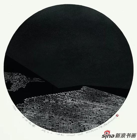 陈超 中国元素·城之二?木刻 45cm×45cm
