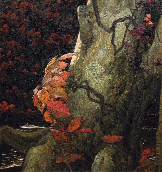 岁月 100X94 cm 1980 油彩·纤维板 1981四人作品联展
