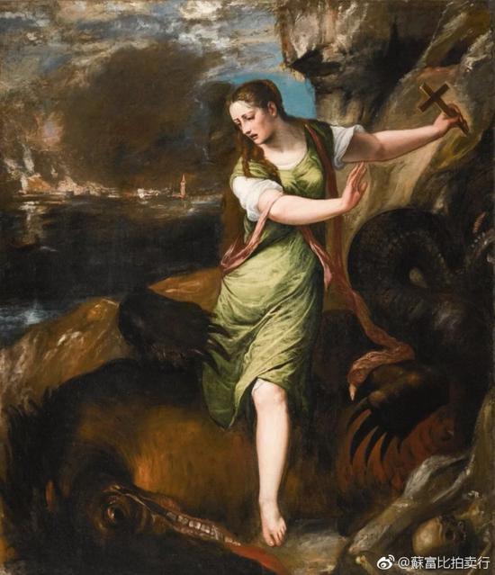 蒂齐亚诺·韦切利奥《圣玛加利大》 油彩画布 198 x 167.5公分