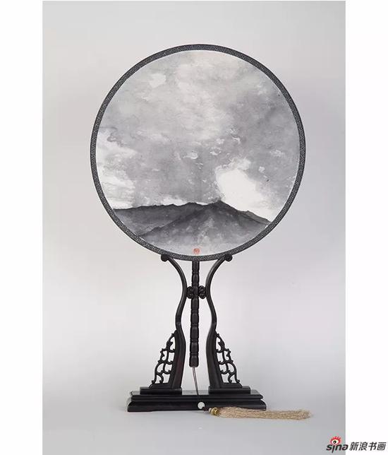 昊天无垠 33X33cm,纸本,2017年