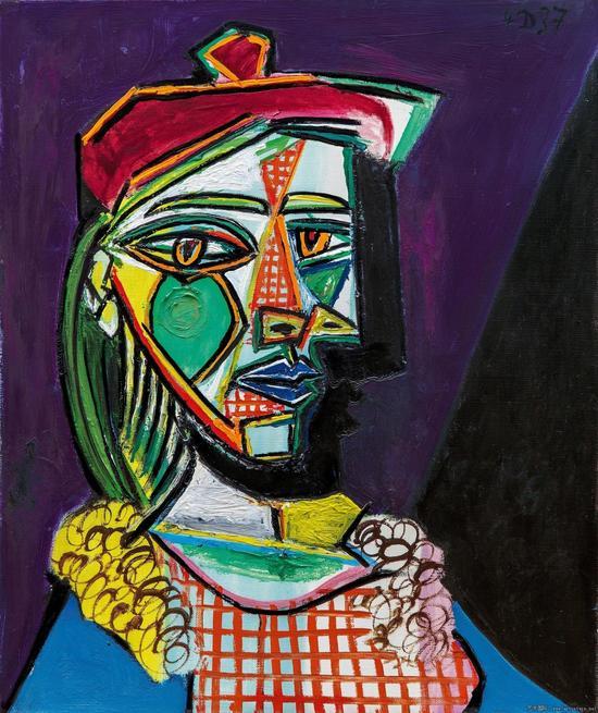 毕加索《戴贝雷帽、穿格子裙的女子》将拍卖