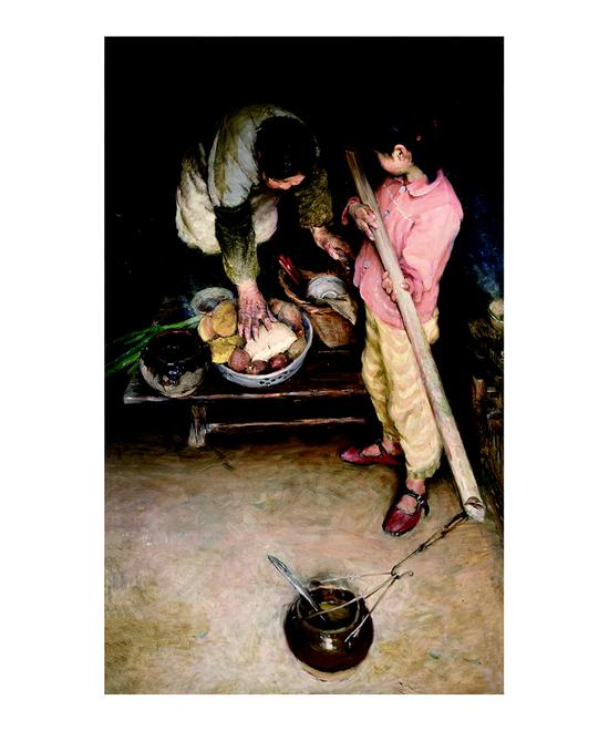 晌饭 160x80cm 1983年中国美术馆收藏