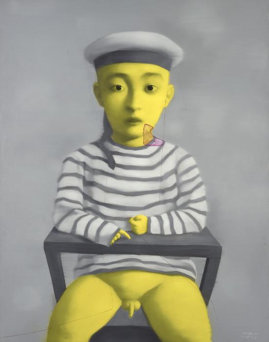 张晓刚 2002年 《小海军》 布面 油画
