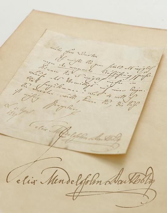 2月3日 呈拍门德尔松有关清唱剧《伊利亚》首演的重要信札